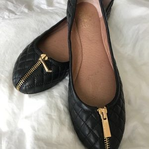 Vince Camuto ballet shoes w/zipper